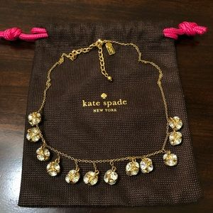 Kate Spade Crystal Dangly Gold Ball Necklace